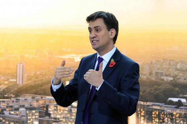 Ed Miliband at Battersea Power Station