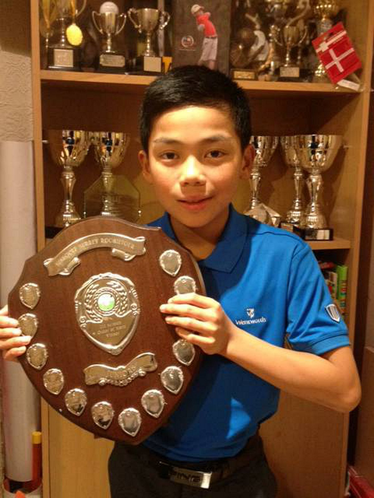 One for the future: Enrique Dimayuga with yet another piece of silverware