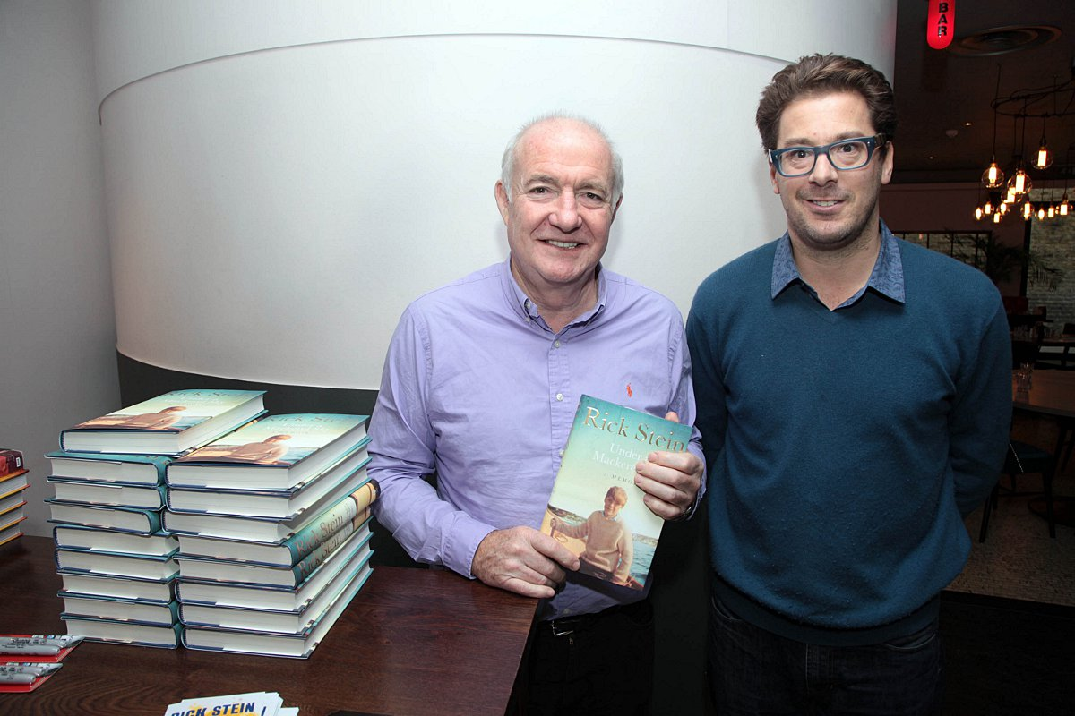Sam Harrison (right) with Rick Stein