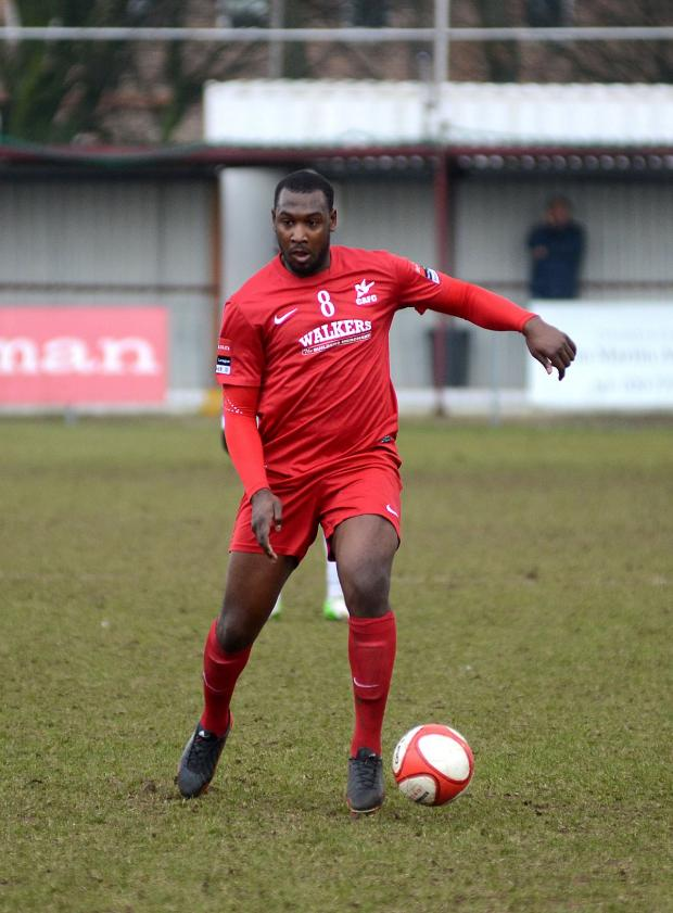 Wandsworth Guardian: Hakeem Adelakun playing for Carshalton Athletic