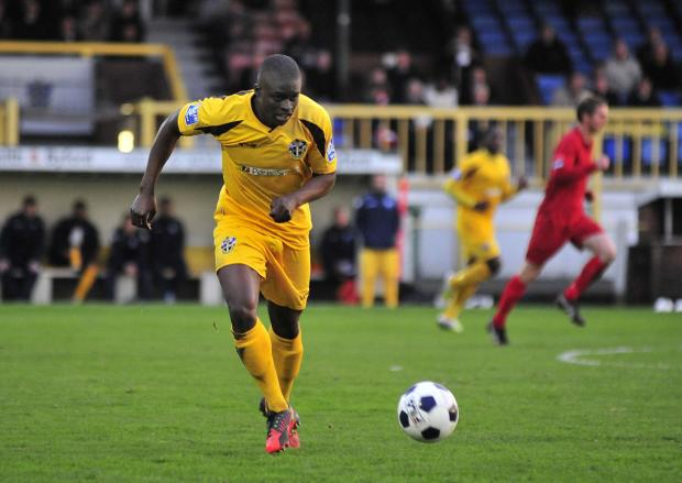 Wandsworth Guardian: Michael Boateng playing for Sutton United
