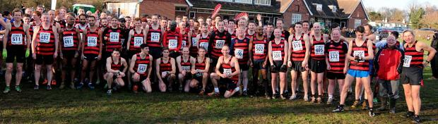 Wandsworth Guardian: All winners: More than 125 Herne Hill Harriers from past and present turned out last weekend to celebrate the club's 125th birthday, including the male contingent in the Surrey Men's League meeting