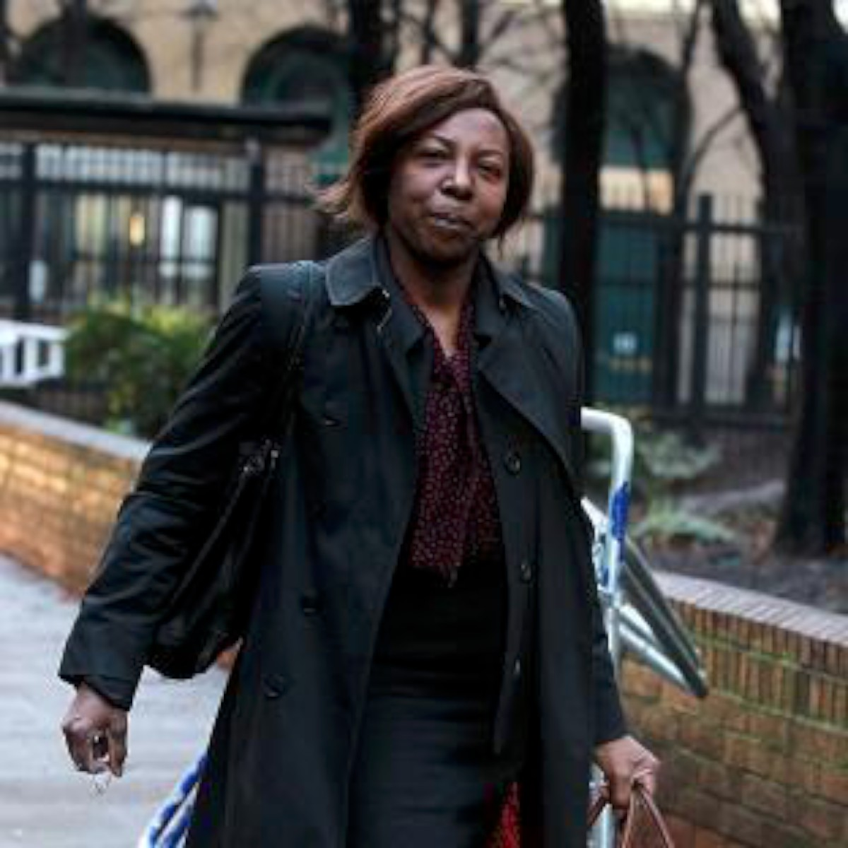 Constance Briscoe outside Southwark crown Court