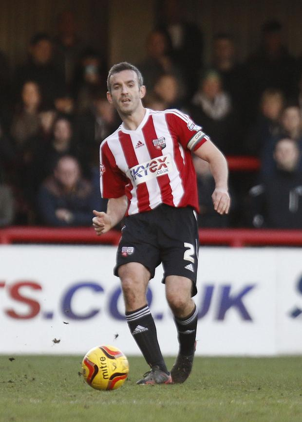 Wandsworth Guardian: Captain fantastic: Brentford skipper Kevin O'Connor is a rare outing against Port Vale on Saturday