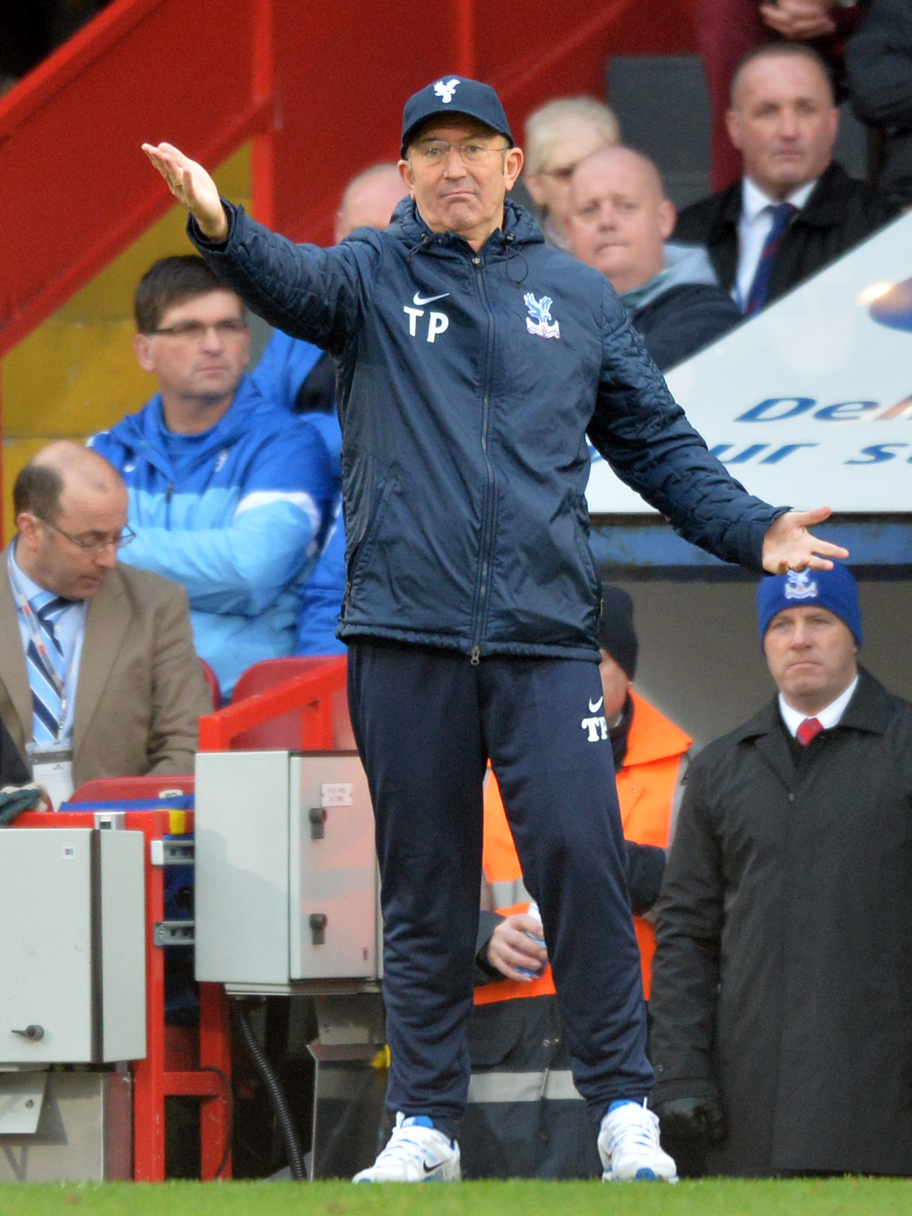 Tony Pulis saw Crystal Palace's winning run come to an end. Picture by Edmund Boyden.