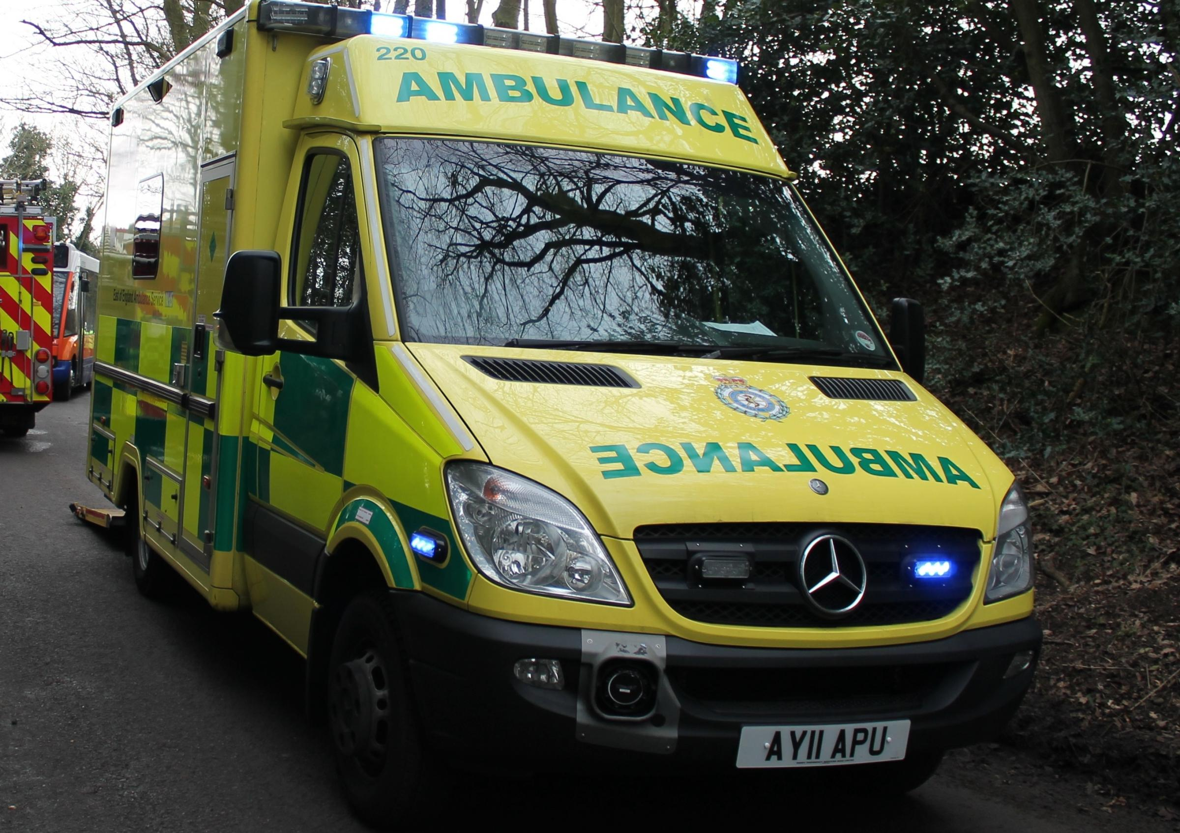 Police and ambulance crews were called to the scene at the junction of Long Lane, Clapham