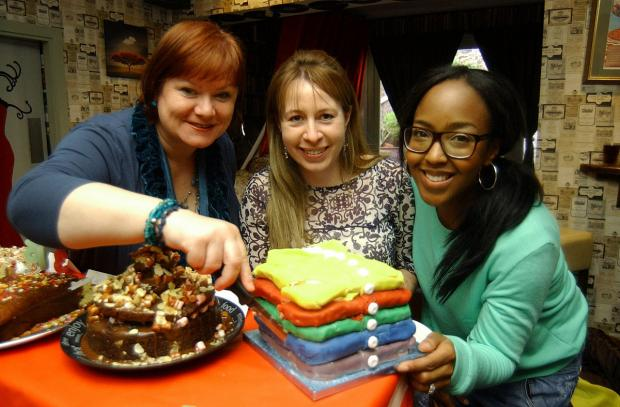 Wandsworth Guardian: Angellica Bell, Jacqui Kelly and Lesley Cox.