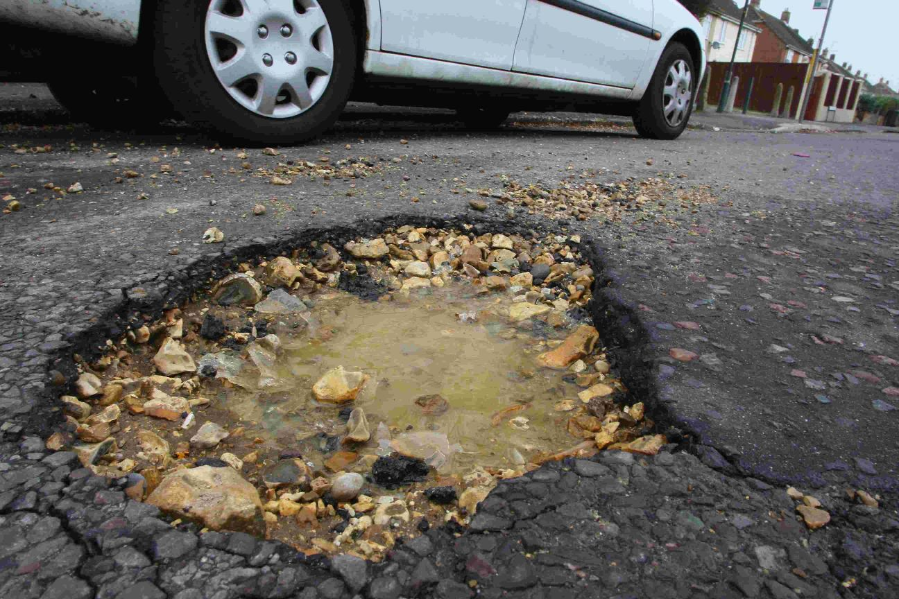 Potholes can cause serious damage to cars and be dangerous for road users
