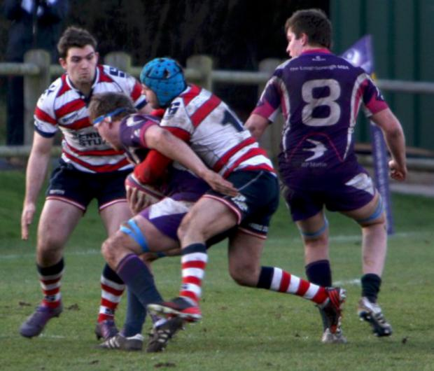 Wandsworth Guardian: Strong: Park defence halts a Loughborough attack          All pictures: David Whittam