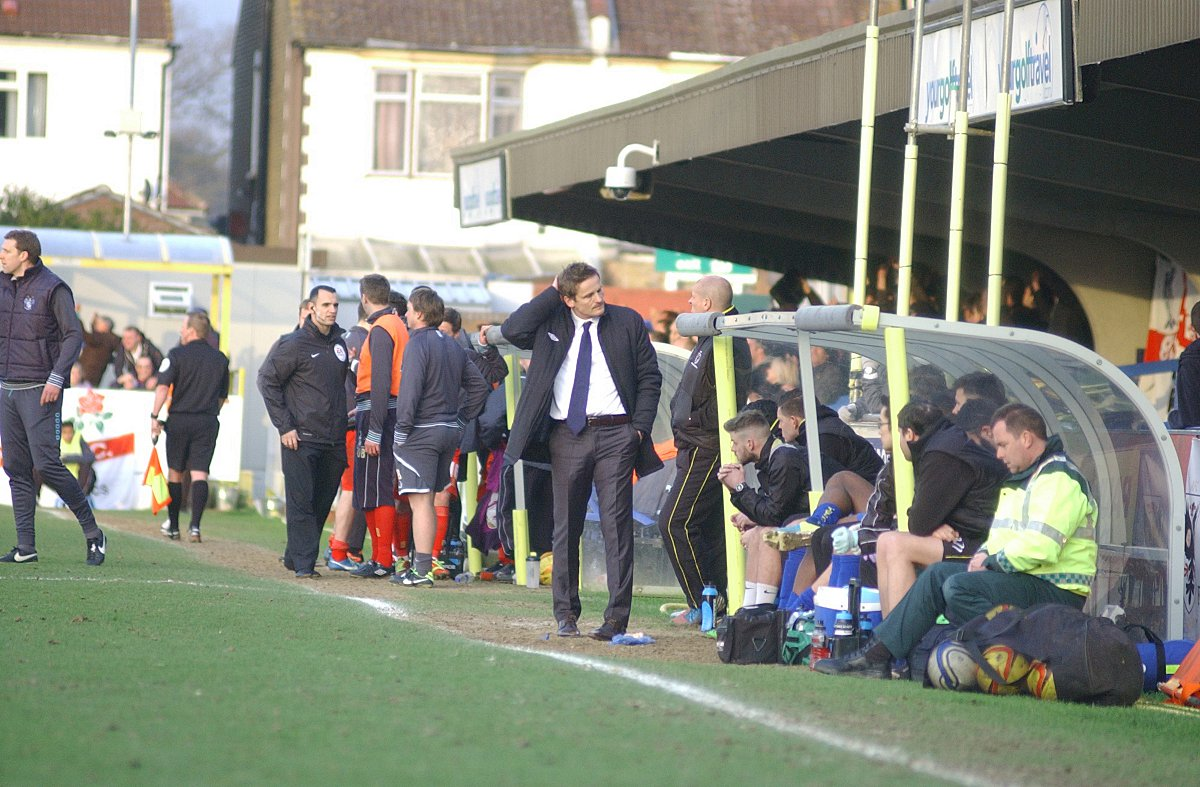 Puzzlement on the touchline: Neal Ardley has backed the actions of Crystal Palace boss Tony Pulis after the Premier League manager decided to fine two of his stars for diving