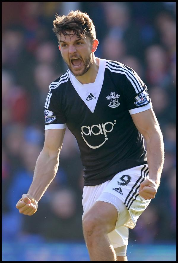 Jay Rodriguez celebrates scoring the winner. Picture: Southern Daily Echo