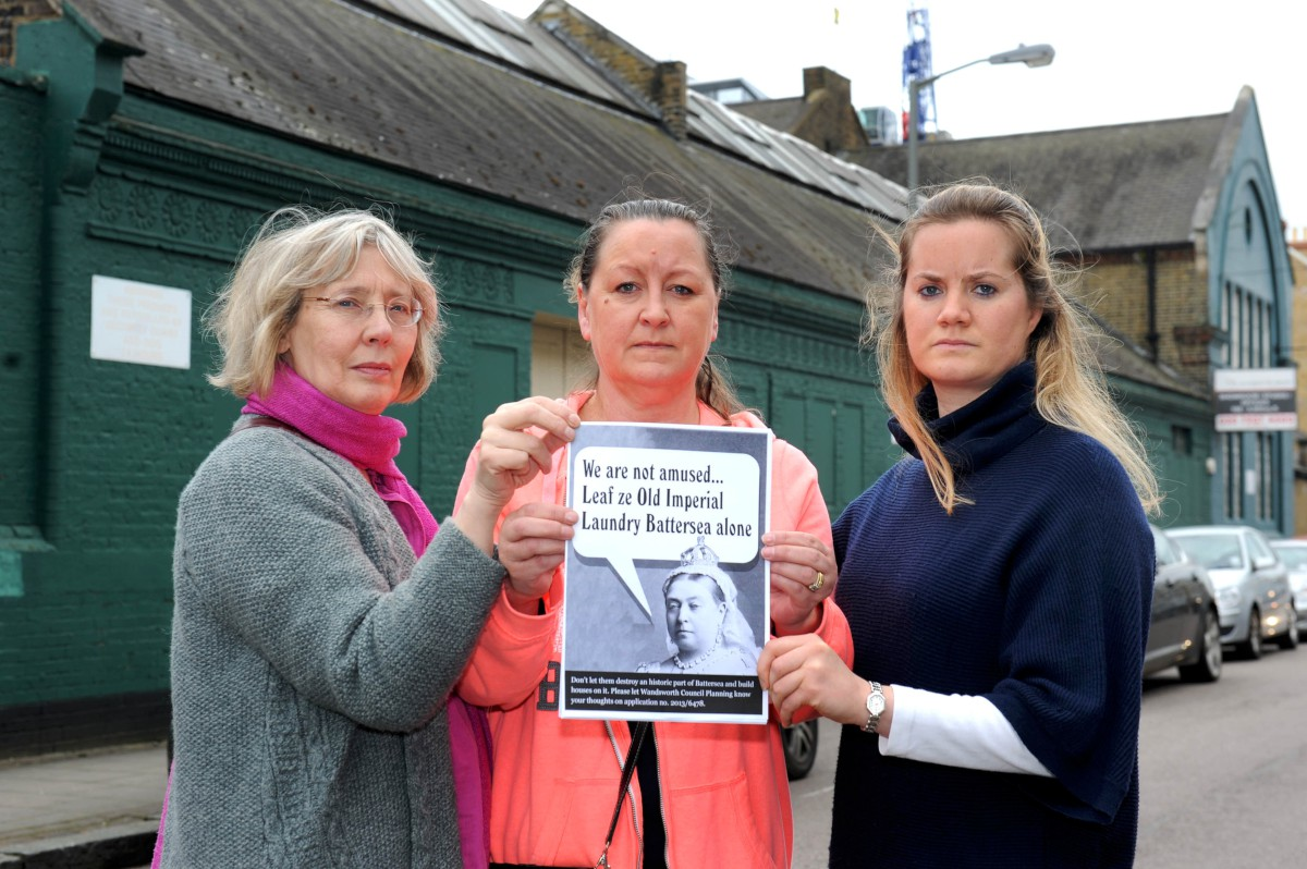 Concerned: Susan Ekins, Mandy Gilham and Camilla Whitaker