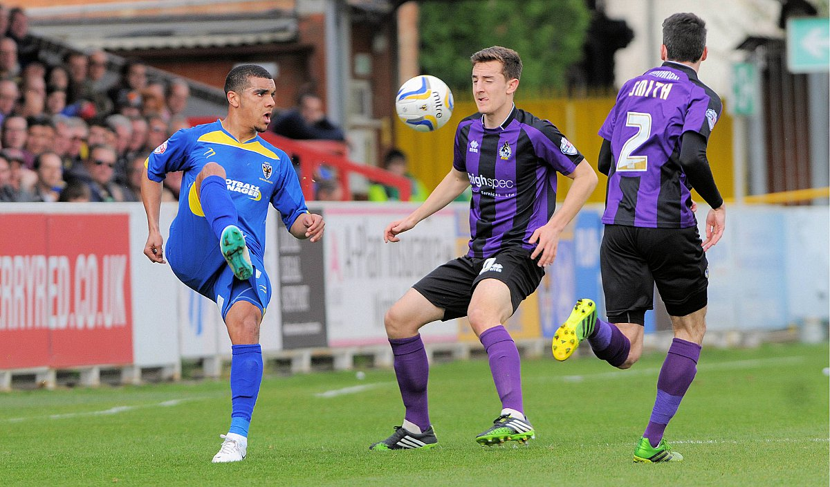 In the blue: Kwesi Appiah in AFC Wimbledon colours during the League Two 0-0 draw against Bristol Rovers                Pict