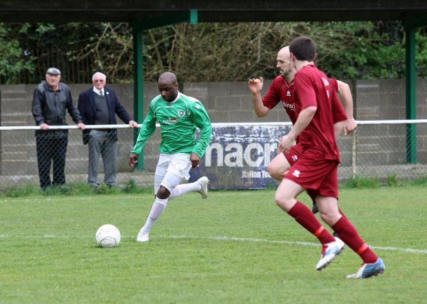 Wandsworth Guardian: Off: Roscoe DSane saw red in Whyteleafe's 1-0 defeat at Corinthian on Tuesday night - as did team-mate Jensen Grant              SP84263