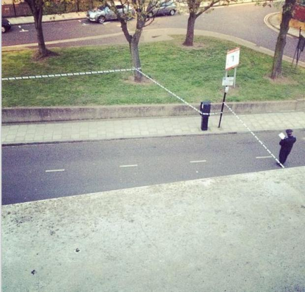 Wandsworth Guardian: The cordon in Battersea on Saturday afternoon