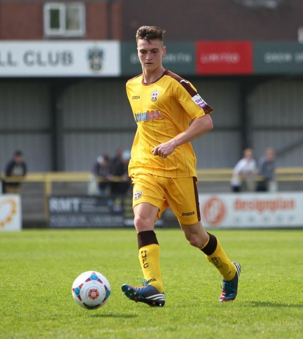 Wandsworth Guardian: Impressive: Isaac Philpott made his debut in the 1-0 win over Concord Rangers on Monday             All pictures: Paul Loughlin
