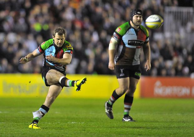 Wandsworth Guardian: Euro blow: Quins fly half Nick Evans,