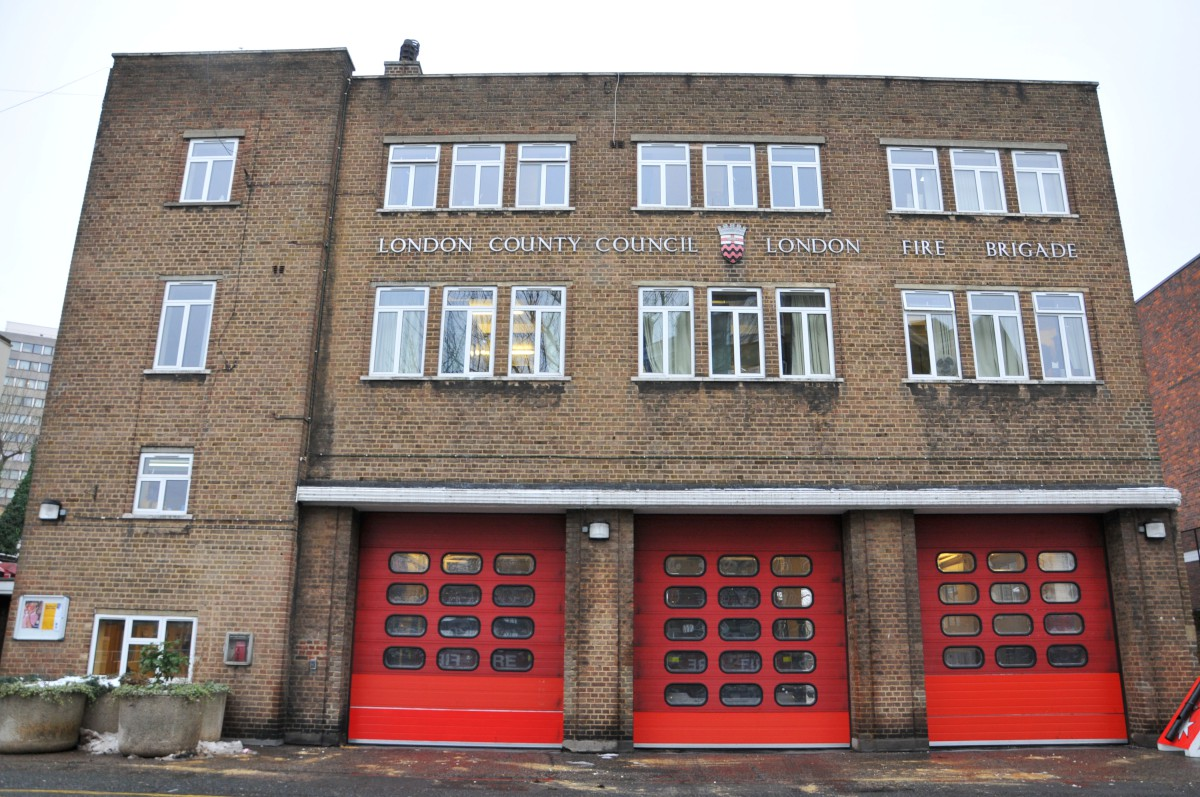 The woman collapsed outside Battersea Fire Stat