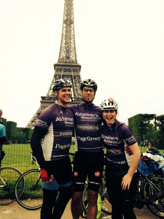 Allan Waller, Steve Hallam and Amy O'Shea in Paris having completed their task