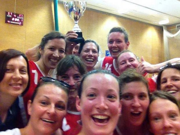 Winners: Acers celebrate with the obligatory selfie shot