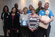 Volunteers at The Furzedown Project receive training for their new defibrillator