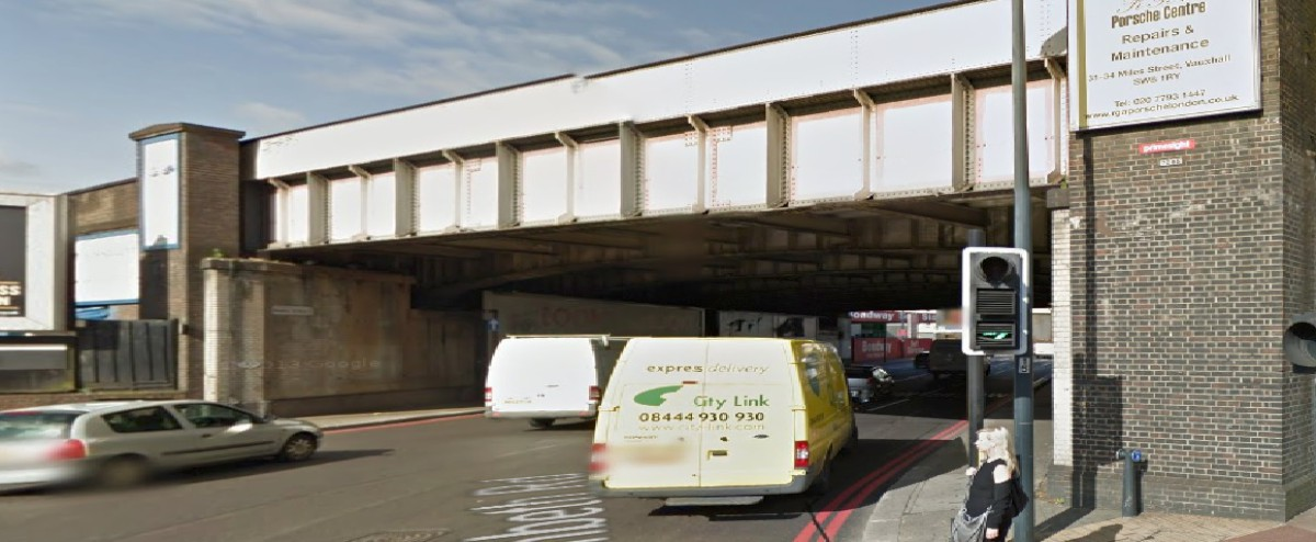 Tafsir Butt was involved in the crash under the railway bridge (Picture: Google Maps)