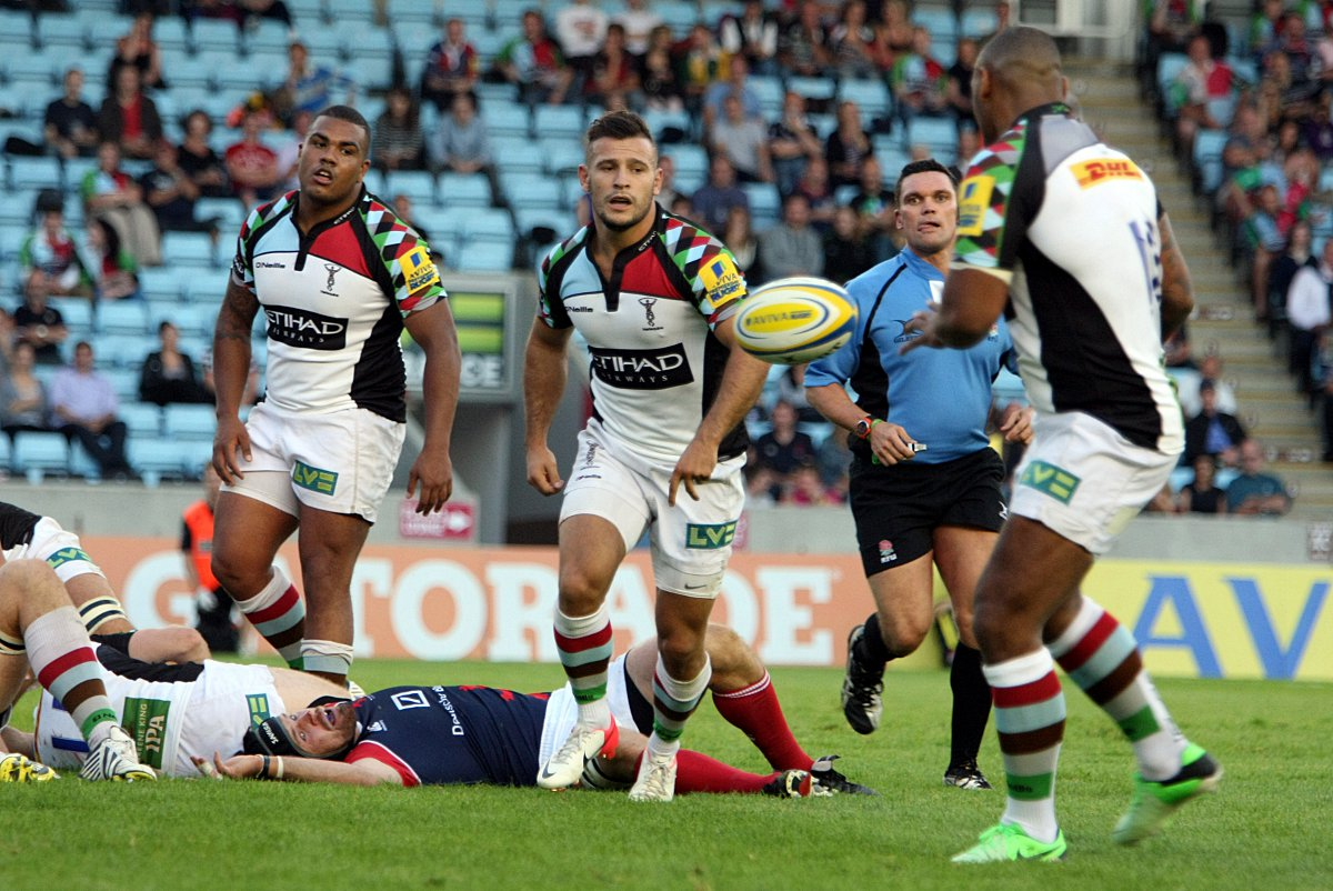 Rising star: Quins prop Kyle Sinckler, left, will benefit from a trip