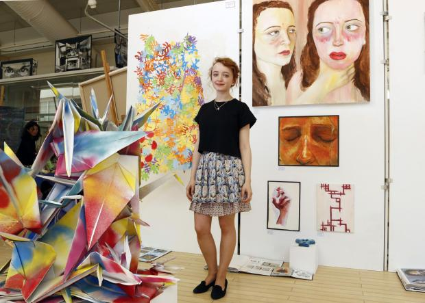 Wandsworth Guardian: Becky Guthrie, 17, has created sculpture and paintings for the exhibition