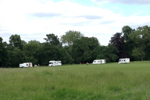 Wandsworth Guardian: The travellers this afternoon