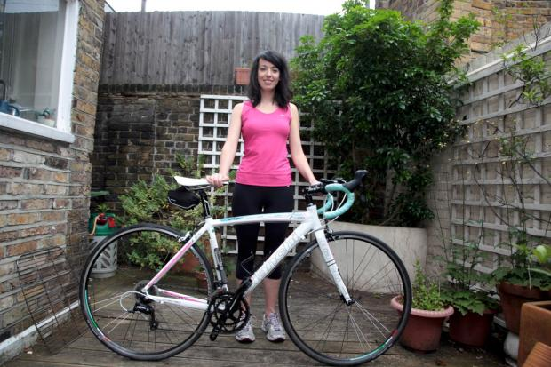 Robin Rouwenhorst getting ready for the Prudential RideLondon to Surrey 100 challenge