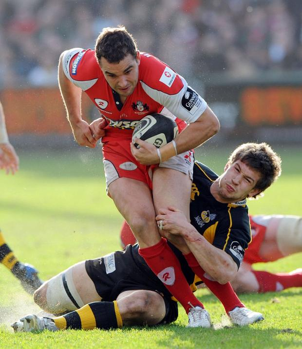 Wandsworth Guardian: Flying in: Olly Barkley in action for Gloucester  Picture: Action Images