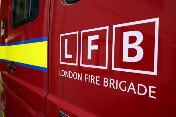 Firefighters were called to the flat in Innes Gardens at 5am this morning
