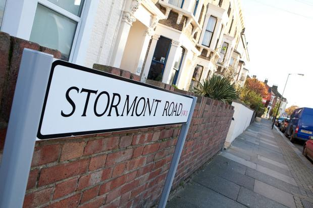 The couple lived on Stormont Road, where the tragedy took place