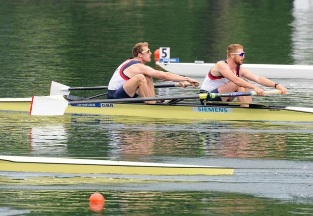 Warming to the task: George Nash, left, is pleased how the Team GB men's four is shaping up
