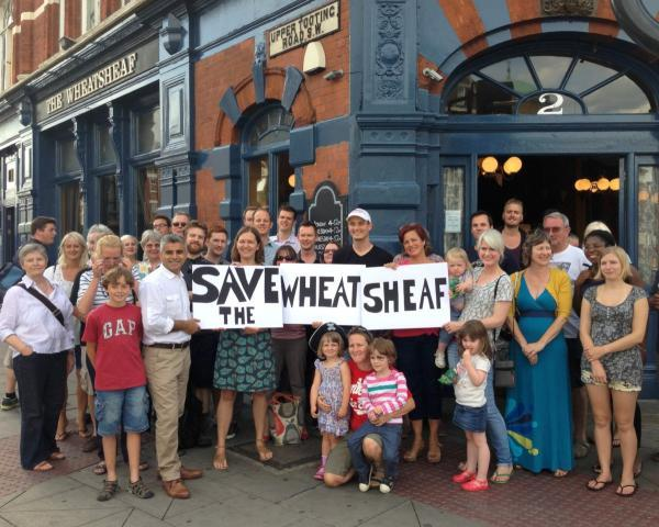 Wandsworth Guardian: Campaigners outside The Wheats