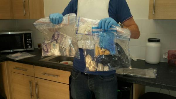 Drugs and cash seized from a London property