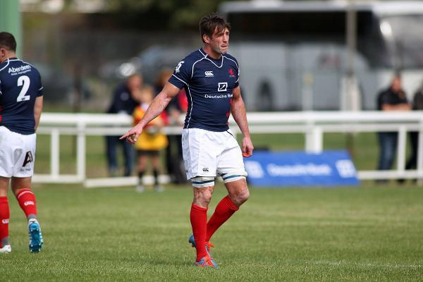 Making strides: London Scottish flanker Neil Best