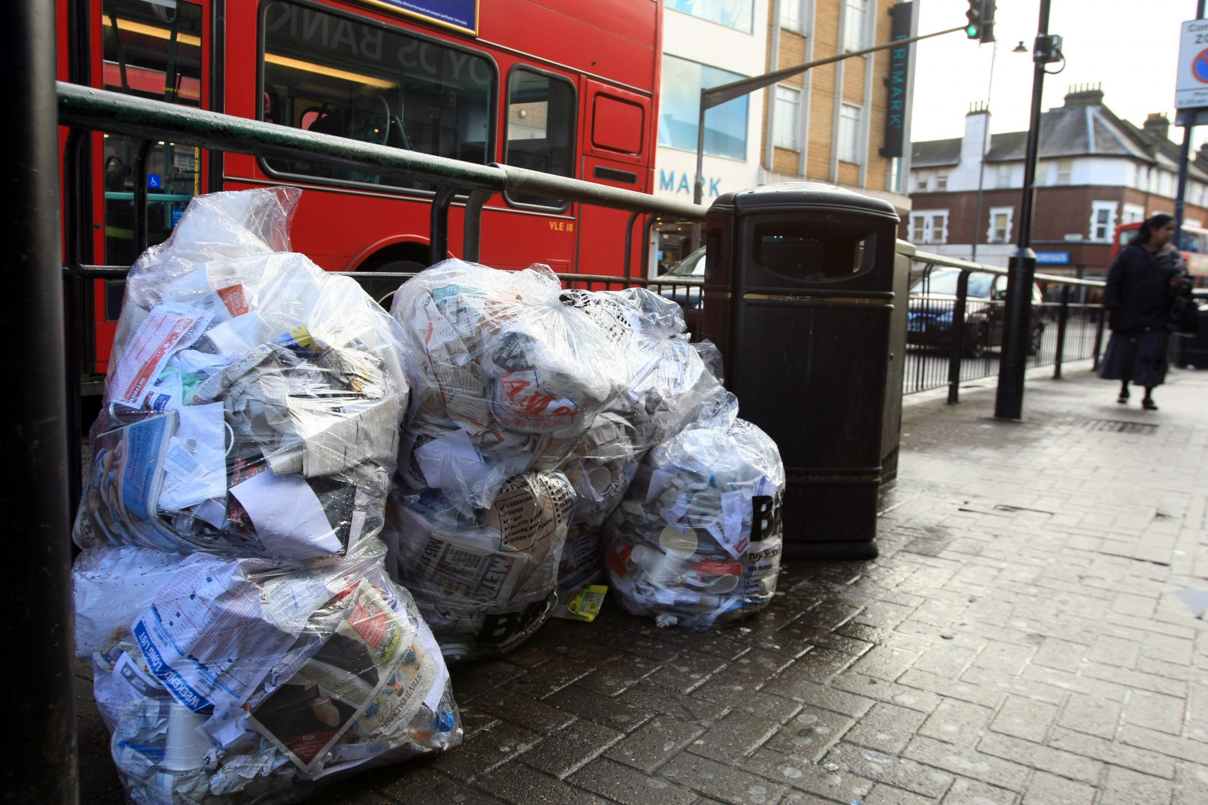 Rubbish: Led to complaints from residents and calls for wheelie bins