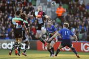Try-scorer: Mike Brown got over the line in Dublin for Quins, but could not inspire them to victory over Leinster          SP88950