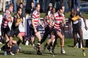 No slip ups: Action from last weekend's win over Esher