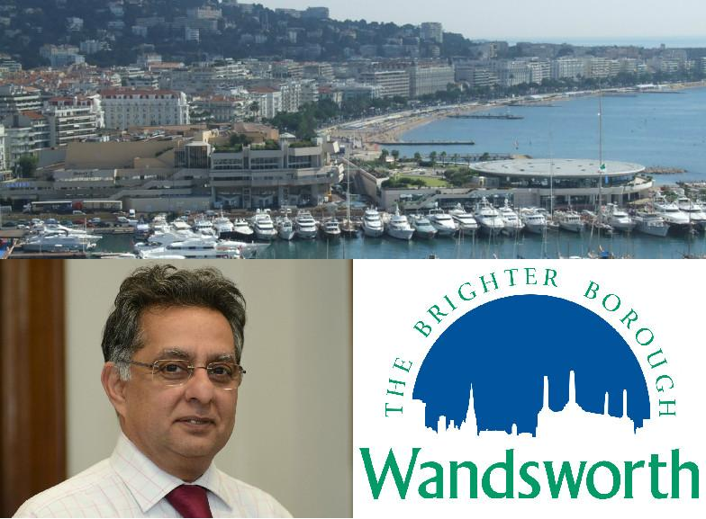 Cannes you believe it? Wandsworth council leader Ravi Govindia got to spend a couple of days in the French Riviera