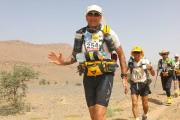 King of the Sahara: Kevin Duffy under a searing sun completed the 156-mile Marathon Des Sable in a little over 51 hours