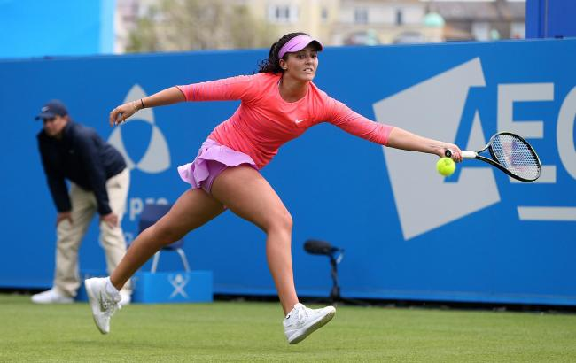 Look who's back: Laura Robson played her first competitive game in 17 months last weekend