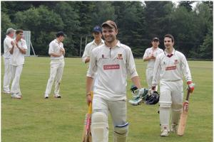 Cricket: Mann fulfils century dream for Walton on flying visit from Germany