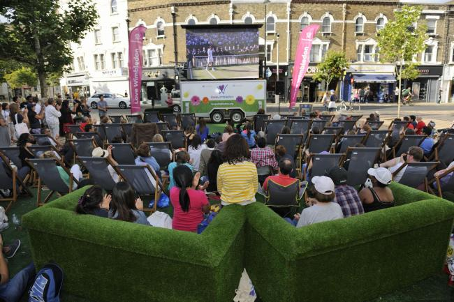 Love Wimbledon's Big Screen has returned to The Piazza