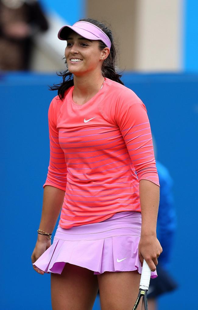 Winner: Laura Robson won her first match in 18 months last night (Wednesday) in Canada