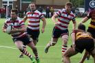 Going forward: Rosslyn Park's Matt Hawke goes on the attack in the weekend win over Ampthill                           Picture: David Whittam