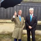 Wandsworth Guardian: Nigel Farage and John Bickley on the campaign trail in Oldham