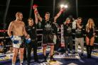 Victorious: James Hamilton enjoys his win over Lloyd Skull last weekend in the Queensbury Boxing League