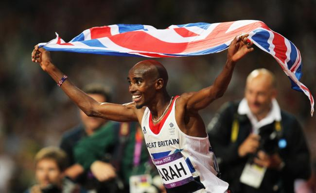 Flashbook: Mo Farah celebrates winning the London 2012 Olympics men's 10,000m gold medal on Super Saturday four years ago    Picture: Action Images